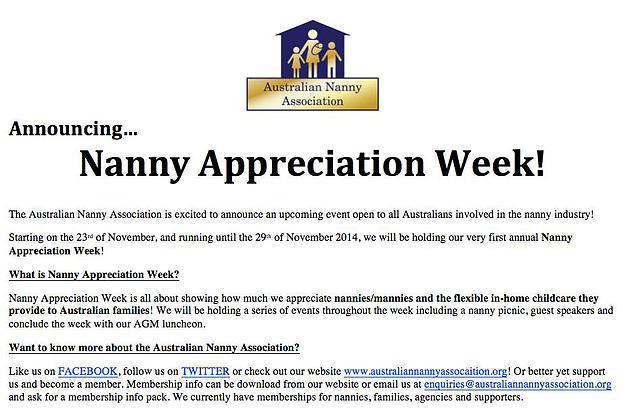 nanny appreciation week 2014 big